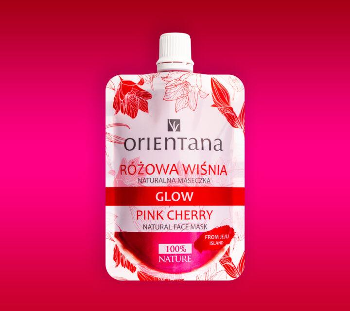 maska glow różowa wiśnia
