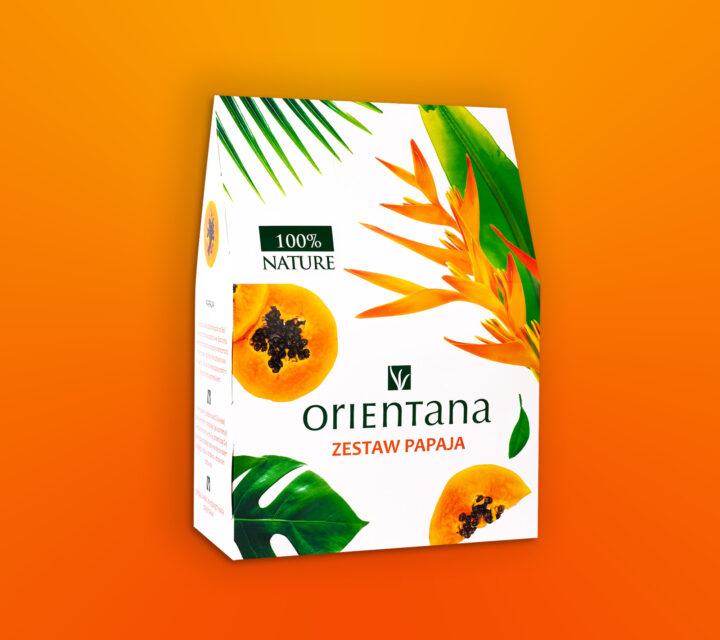 projekt graficzny zestaw świąteczny design mockup Orientana papaja