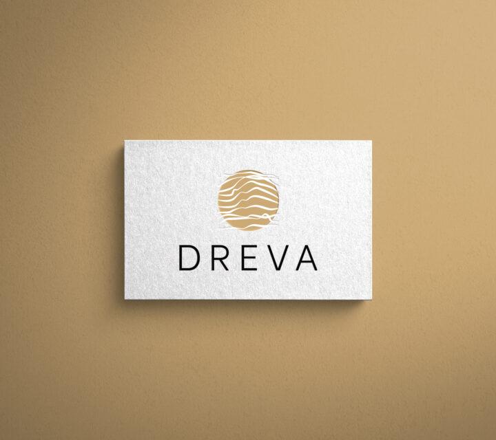 projekt graficzny logo logotyp firmy DREVA asunique agencja kreatywna