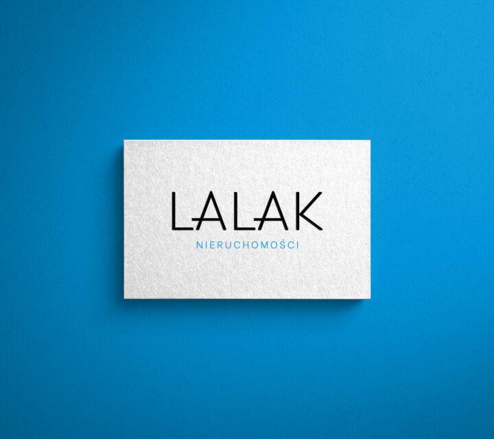 projekt graficzny logo logotyp LALAK NIERUCHOMOŚCI asunique agencja kreatywna
