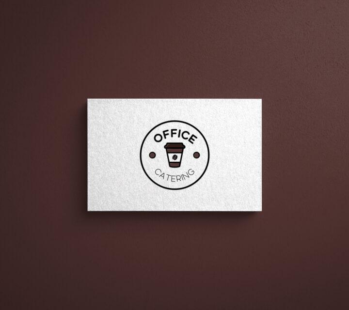 projekt graficzny logo logotyp OFFICE CATERING asunique agencja kreatywna