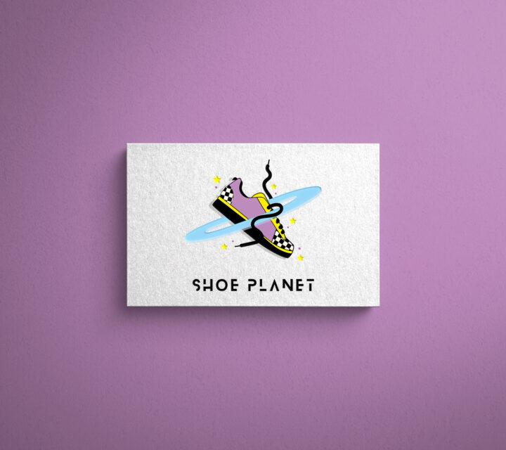 projekt graficzny logo logotyp firmy shoe planet asunique agencja kreatywna