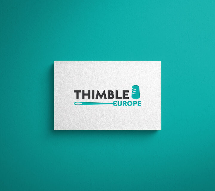 projekt graficzny logo logotyp THIMBLE EUROPE asunique agencja kreatywna