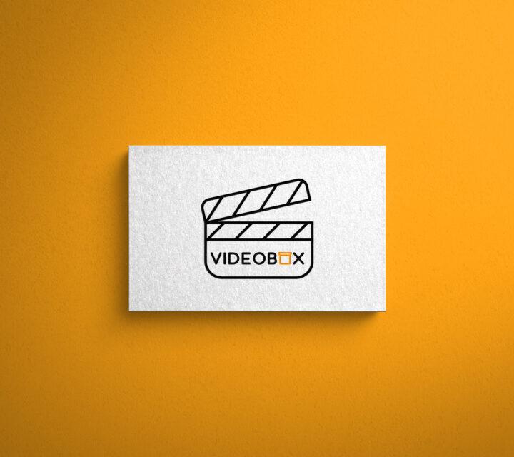 projekt graficzny logo logotyp VIDEOBOX asunique agencja kreatywna